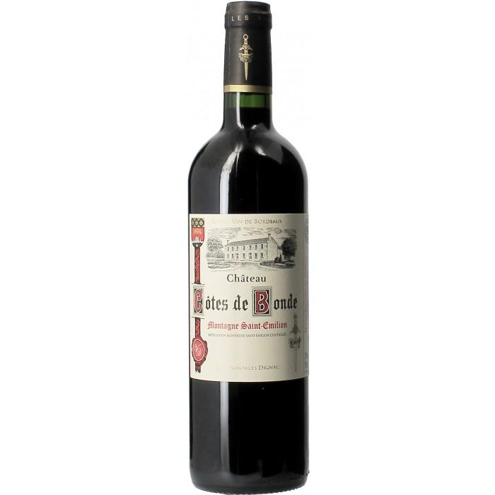 Château Côtes de Bonde - Vins en bouteilles de 75cl - sommellerie de France