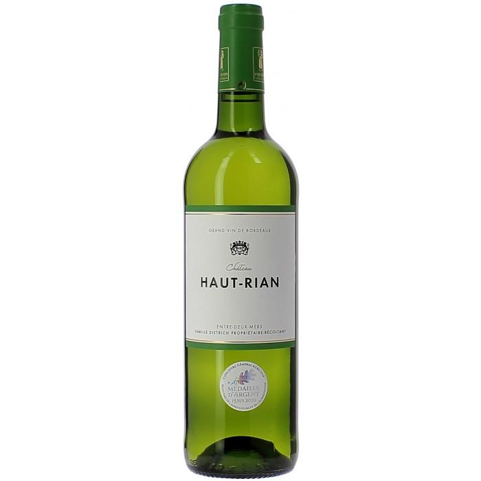 Château Haut Rian blanc - Vins en bouteilles de 75cl - sommellerie de France
