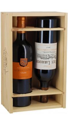 Caisse Bois Prestige 2 bouteilles de vins