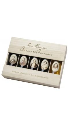 Caisse bois 5 bouteilles Barons Baronnes