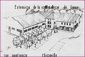 Extension 1989 locaux Sommellerie de France